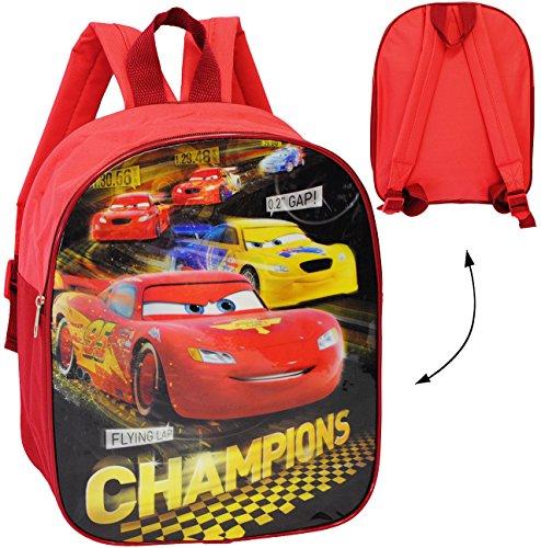 alles-meine.de GmbH Kinder Rucksack -  Disney Cars - Lightning McQueen  - wasserfest & beschichtet - Kinderrucksack / groß Kind - Jungen - Tasche - z.B. für Kindergarten / Vors..