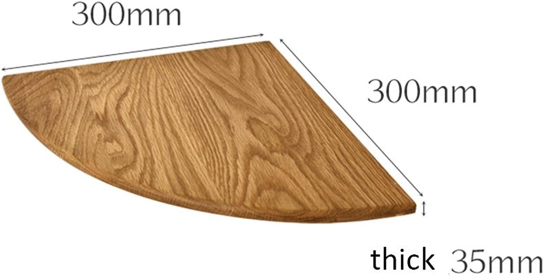 HAIZHEN Almacenamiento Estantería Estante de esquina de madera maciza montada en la parojo para la parojo de la sala de estar Fuerte estabilidad (Color   Color madera, Tamao   3030cm)