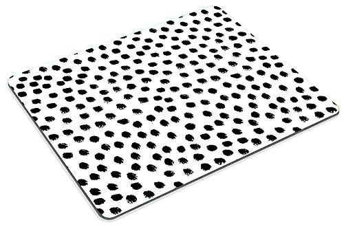 Smooffly Polka Dots Gaming Mouse pad Cuscom,Brush Strokes Dots Personality Desings Rectangle Non-Slip Rubber Mousepad 9.5 X 7.9 Inch (240mmX200mmX3mm) Photo #5