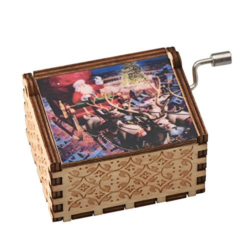 CNMNMB Music Box Christmas Music Box in Legno Babbo Natale Decorazione della Casa Grande Regalo per Il Compleanno Natale Great WR Manovella Music Box Snowman B Come Regalo per Il Black Friday