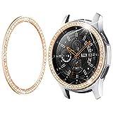 Goton Bezel Ring Compatible Samsung Galaxy Watch3 45mm Bezel, Gear S3 Frontier Classic, Crystal Bling Diamond Women Men Watch Bezel Cover Protector (46mm/45mm,Rose Gold)