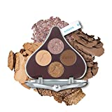 ETUDE HOUSE Hershey's Kisses Play Color Eyes #1 Milk Chocolate   Shimmer Matte Glitter 4 Colors Eye Palette with Long Lasting Chocolate Shadows   Korean Eye Makeup