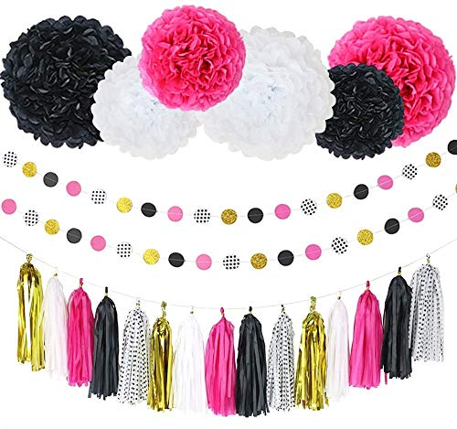 Liya Event Couture Party Decorations Set for Birthday Decorations, Bridal or Bachelorette Party, Wedding or Graduation Fits Girls & Boys, Mom and Dad