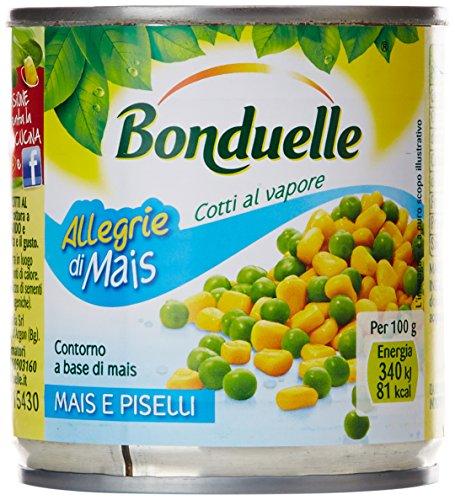 Bonduelle - Mais E Piselli, Contorno A Base Di Mais, 3 X 170 G