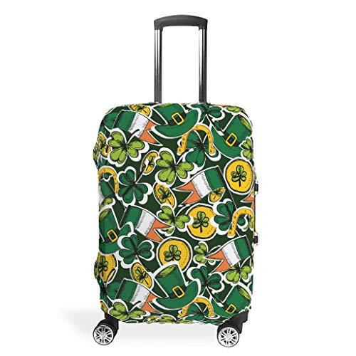 Bekende St Patrick's Day Travel Bagage Cover - Spandex 4 maten pak voor veel Trolley