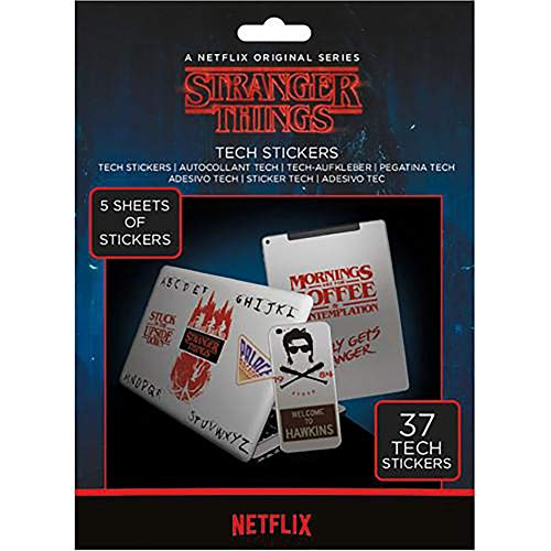 Official Licensed Stranger Things - Tech Stickers