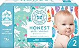 The Honest Company - Club Box, Clean Conscious Diapers, Young At Heart + Rose Blossom, Size 2, 76 Count (Packaging May Vary)