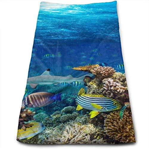 Toallas de Hotel de Lujo bajo el Agua Coral Reef, Secado rápido, Extragrande Extragrande, máxima suavidad y absorción Toalla de Lino Suave para Piscina