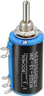 uxcell 4.7K Ohm Adjustable Resistors Wire Wound Multi Turn Precision Potentiometer Pot