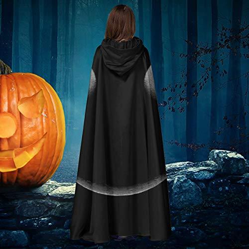 AISFGBJ Moon Eclipse Smiley Face - Capa de Disfraz Unisex para Halloween, Bruja, Caballero, con Capucha