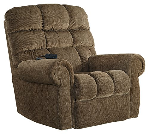 Ashley Furniture Signature Design - 9760212 Ernestine Power Lift Recliner, Truffle