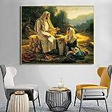 Danjiao Berühmte Gemälde Jesus Und Die Samariterin Poster