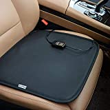 KINGLETING 12V Heated Seat Cushion with Intelligent Temperature Controller.(Black)