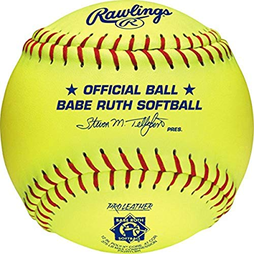 Rawlings Official Babe Ruth League Softball, 12 Count