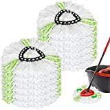 12Pack Spin Mop Heads Replacements, Easy Wring Spin Mop Refills Microfiber Mop Heads, 360Degree Dust Mop Head Replacement for Floor Cleaning