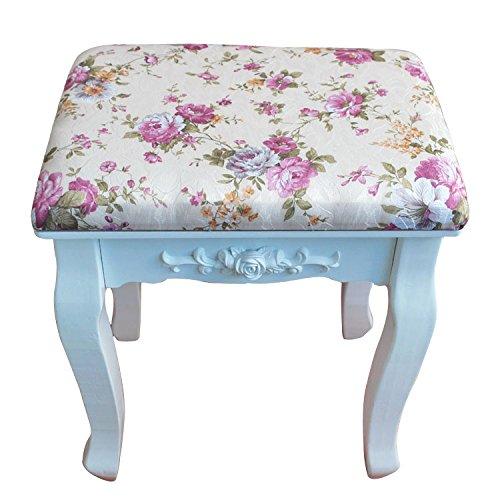 Dana Carrie Groene salade dressing kruk stoel stoffen kleine partij witte kaptafel kruk massief hout veranderende schoenen zitbank kruk, violet