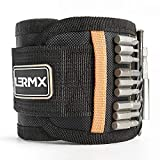 Magnetic Wristband, LX LERMX Magnets for Holding Screws Nails Drill Bits Gifts Gadgets Tools, Wrist Tool Holder for Holding Screws, Nails, Drill Bits, Best Gift for Men, Dad, DIY Handyman, Husband