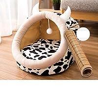 ペットベッド 可愛い 猫 犬 動物造形 S クッション モチモチ3D綿 ふわふわ 暖か リバーシブル通年 ドーム型 クッション 猫 犬 クッションマット ペットベッド 立体構造綿 模様 リバーシブル 通年 洗える ペットマット