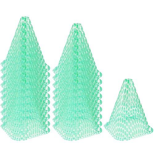 COM-FOUR® 20x zonnehoed voor planten, groeihulp voor gewasbescherming, ca. 23 cm hoog (20 stuks)