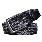 AGEA Elastic Stretch Woven Braided Waist Belt for Men and Women (Waist 36
