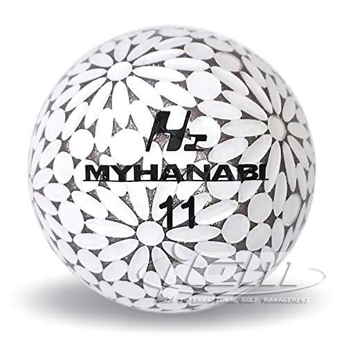 MYHANABIH2マイハナビゴルフボールホワイトシルバー1ダース