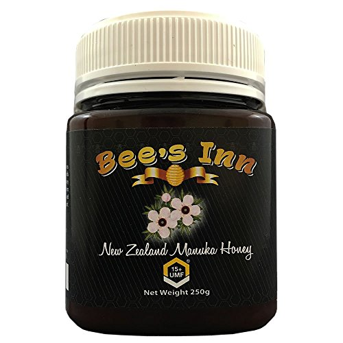 Bee's Inn Manuka Honey UMF 15+, 250g (8.8 oz), UMF Certified, Pure Natural Raw Manuka Honey from New Zealand, Best Manuka Honey Imported for TUFF BEAR