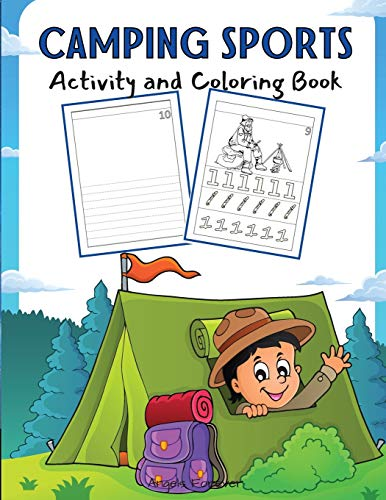 Camping Sports Activity and Coloring Book: Amazing Kids Activity Books, Activity Books for Kids - Over 120 Fun Activities Workbook, Page Large 8.5 x 11'