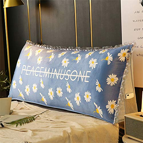 Large Sofa Cushion Headboard Back Wedge Large Backrest Lumbar Support Bedside Reading Pillow Tatami Bay Window Bench 200cm For 2 Seater Bed