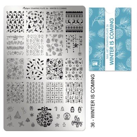 Moyra Laca De Uñas Moyra Placa Para Stamping Nº 36 - Winter Is Coming (Tamaño 14,5 Cms X 9,5 Cms) - 1 unidad