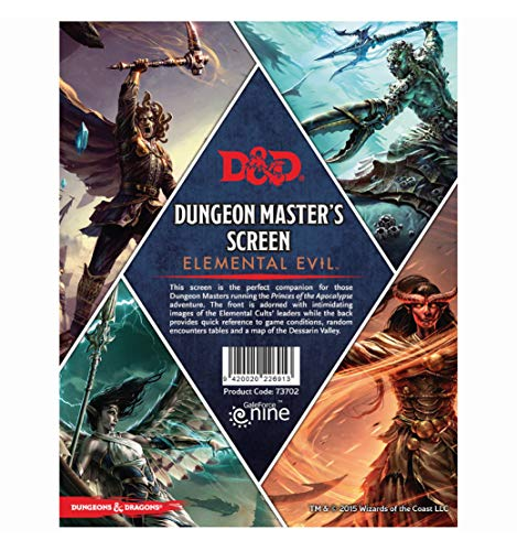Gale Force Nine GF973702 - bordspellen, Dungeons en Dragons, Temple of Elemental Evil, DM Screen