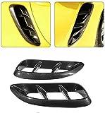 ZNZZJ 2 Piezas de Fibra de Carbono Guardabarros Rejilla de ventilación Lateral para Porsche 718 Cayman/Boxster Accesorios de Coche Cubierta de Pegatina Decorativa