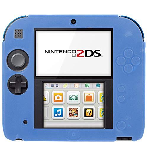 subtel® Smart Case Compatible con Nintendo 2DS Silicone Funda Flip Cover Case Azul