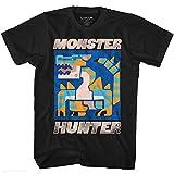 Monster Hunter Video Game Scray Black Adult T-Shirt Tee