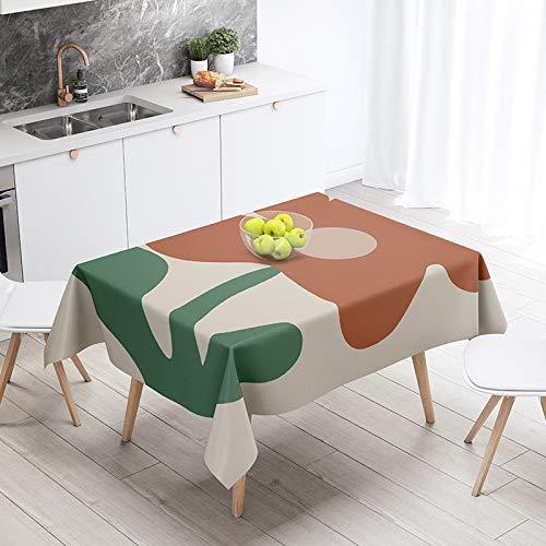 Mantel lavable para mesa de cocina, comedor, fiesta, 140 x 140 cm