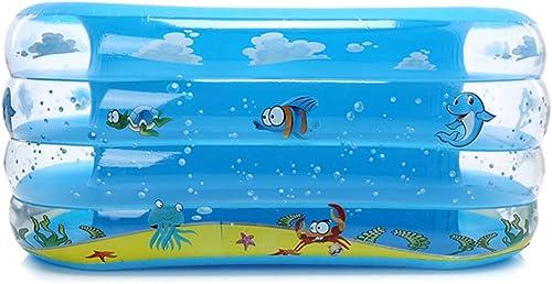 WQING Rechteckiges aufblasbares Planschbecken Planschbecken blau 135cm  70cm  60cm