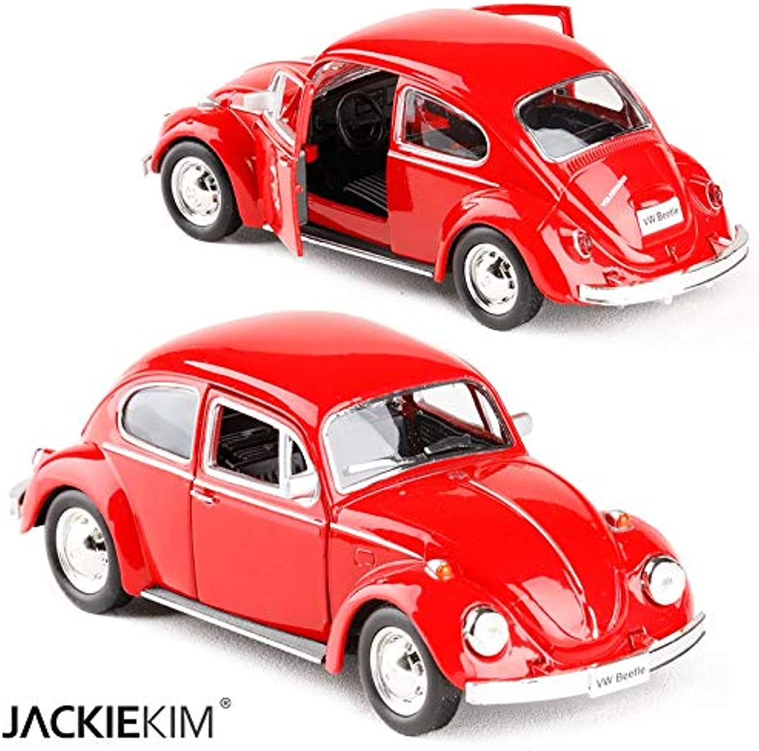 Generic RMZ City 1 32 1967 Volkswagen Old Beetle Alloy Car Model with Pull Back The Door Can Opened for Kids Toy Gifts 5