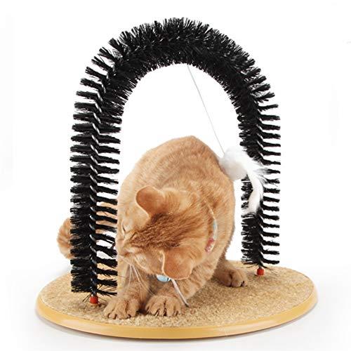 Peluquero para Gatos Cat Shoeninging, Sencillo de Montar el raspador de Gatos, 3 en 1 Funcional Cat Arch 🔥