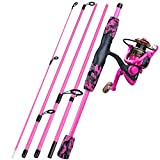 YONGZHI Spinning Fishing Rod,5-Piece Portable Fishing Pole and Reel Combo for Boys,Girls and...