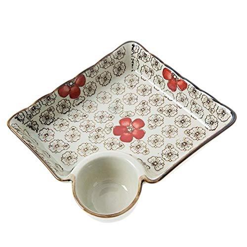 WENGE keramische schotel dumplings kom Sushi plaat met saus schotel keuken servies diner borden dessert taart fruit plaat pan plaat plaat