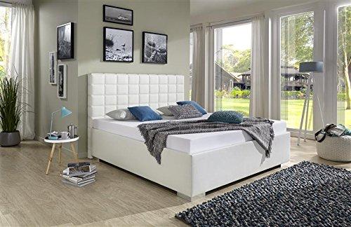 Breckle Polsterbett, Bett 180 x 200 cm Baxter Comfort 28 cm Höhe Stärke 3 cm Überstehend Textil grau