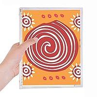 赤いネジメキシコトーテムの古代文明の描画 硬質プラスチックルーズリーフノートノート