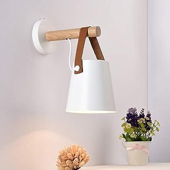 Bianco E27 Metallo Lampada da Parete Moderne Lampada Muro Dipinta Applique da Parete Lampada Muro Perfetto per Camera da Letto Corridoio Scale Bagno Soggiorno