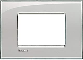 BTicino LIVINGLIGHT Plate 3Modules, Quadra, Grey, LNA4803KG