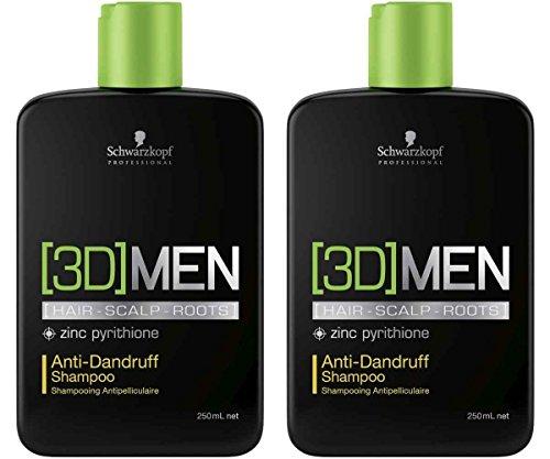 Schwarzkopf 3D Men Antischuppen Shampoo 2x 250ml = 500ml