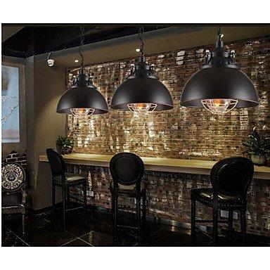 Kejing Moderne Kronleuchter Deckenleuchten Anhänger The Metal Bar Iron Lamp Single Head Kaffeekanne Kronleuchter 3C Ce FCC Rohs für Wohnzimmer Schlafzimmer, 220-240 v