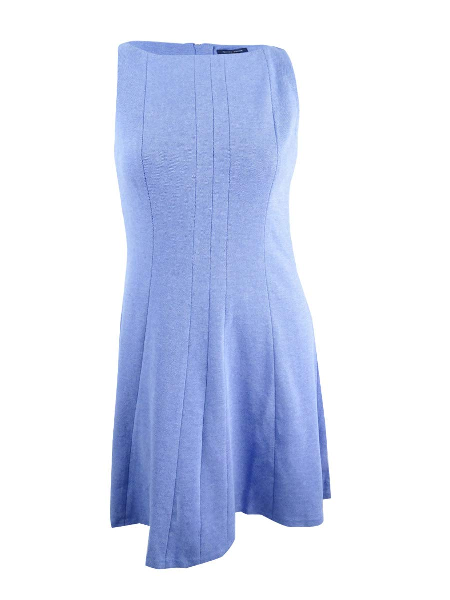 Available at Amazon: Tommy Hilfiger Women's Fit & Flare Dress (14 Blueberry)
