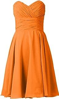 TalinaDress Womens Short Chiffon Sweetheart Bridesmaid Dress Prom Gown E277LF