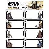 Grupo Erik Etiquetas adhesivas escolares The Mandalorian, Star Wars, Baby Yoda, Grogu (16 etiquetas), ELE0275