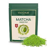 VAHDAM, Thé Vert Matcha| Poudre de thé matcha | 100% PURE, Orig. Japonaise | 137x ANTIOXYDANTS | Stimule l'Energie, la Concentration & le Métabolisme | Perte de Poids & Detox