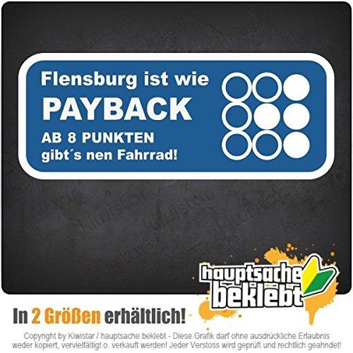 Flensburg ist wie... w dwóch rozmiarach naklejka wielokolorowa JDM Decal Sticker Racing Cut